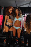 Models posing backstage at the Beach Bunny fashion show during MBFW Swim 2015 Royalty Free Stock Images
