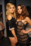 Models posing backstage Royalty Free Stock Photo