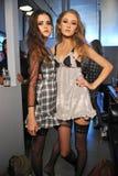 Models posing backstage Stock Image