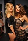 Models posing backstage Stock Images