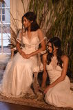 Models posing during the Claire Pettibone Four Seasons Collection Showcase Royalty Free Stock Photos