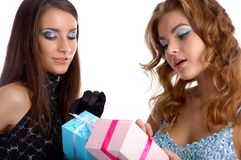 Models with presents Stock Images