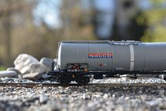 Models of the railroads Marklin, Big railway tank NACCO Stock Photos