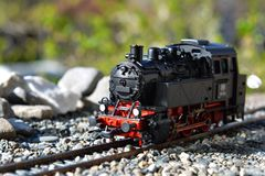 Models of the railroads Roco, steam locomotive BR80 Royalty Free Stock Images