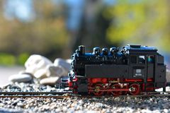 Models of the railroads Roco, steam locomotive BR80 Stock Photography