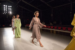 Models at rehearsal at the FTL Moda fashion show during MBFW Fall 2015 Stock Images