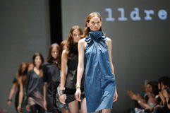 Models showcasing designs from Alldressedup at Audi Fashion Festival 2012 Stock Photos