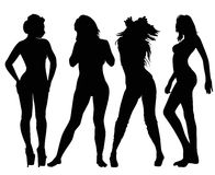 Models Silhouette Stock Photo