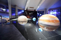 Models of solar system in Planetarium Royalty Free Stock Photos