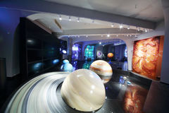 Models of solar system in Planetarium Stock Photography