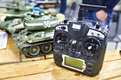 Models soviet tank on radio control and remote Royalty Free Stock Images