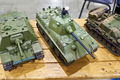 Models of tanks on radio control Stock Images