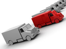 Models of  trailer Stock Photos