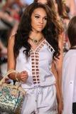Models walk Carmen Steffens runway at the FTL Moda Spring 2016 Royalty Free Stock Images
