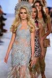 Models walk Carmen Steffens runway at the FTL Moda Spring 2016 Royalty Free Stock Photography