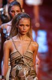 Models walk Natasha Poly runway fashion show of Valentino Ready-To-Wear collection