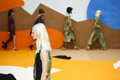 Models walk the runway during the Aalto designed by Tuomas Merikoski show Stock Photos