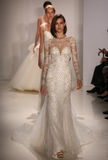 Models walk runway at Amsale fashion show during Fall 2015 Bridal Collection Royalty Free Stock Images