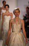 Models walk runway at Amsale fashion show during Fall 2015 Bridal Collection Royalty Free Stock Photo