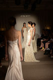 Models walk the runway at the Anna Mayer Spring 2015 Bridal show Royalty Free Stock Images