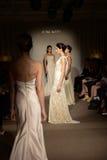 Models walk the runway at the Anna Mayer Spring 2015 Bridal show Royalty Free Stock Images