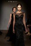 Models walk the runway at the Anna Mayer Spring 2015 Bridal show Stock Photography