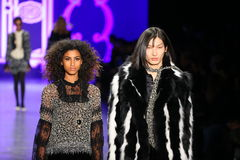 Models walk the runway at the Anna Sui Fall 2016 show Stock Photography