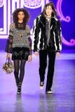 Models walk the runway at the Anna Sui Fall 2016 show Royalty Free Stock Image
