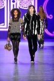 Models walk the runway at the Anna Sui Fall 2016 show Royalty Free Stock Photo