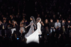 Models walk runway at the Art Heart fashion show during MBFW Fall 2015 Royalty Free Stock Photography