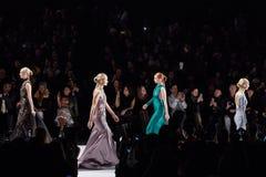 Models walk runway at the Art Heart fashion show during MBFW Fall 2015 Royalty Free Stock Image