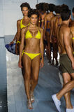 Models walk the runway at the Barraca Chick fashion show during MBFW Swim 2015 Stock Images