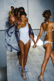 Models walk the runway at the Barraca Chick fashion show during MBFW Swim 2015 Stock Image