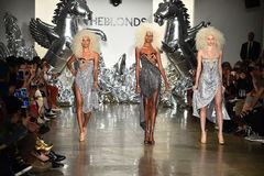 Models walk the runway at The Blonds fashion show Stock Photos