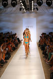 Models walk the runway at the Caffe Swimwear during MBFW Swim 2015 Royalty Free Stock Images