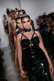 Models walk the runway at the Chromat AW15: Mindware fashion show during MBFW Fall 2015 Stock Images