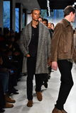 Models walk the runway at the Deveaux fashion presentation Stock Image