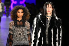 Models walk the runway finale at the Anna Sui Fall 2016 show Stock Photos