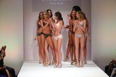 Models walk the runway finale at the Bradelis fashion show Royalty Free Stock Photos