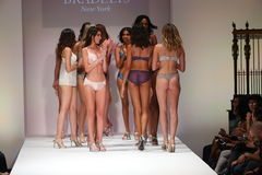 Models walk the runway finale at the Bradelis fashion show Royalty Free Stock Photo