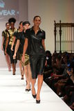 Models walk the runway finale at the ClubWear fashion show during Spring 2016 New York Fashion Week Stock Photography