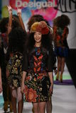 Models walk the runway finale at the Desigual fashion show during Mercedes-Benz Fashion Week Fall 2015 Stock Photo