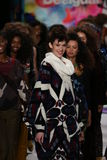 Models walk the runway finale at the Desigual fashion show during Mercedes-Benz Fashion Week Fall 2015 Stock Image