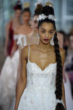 Models walk the runway finale during the Ines di Santo Spring/Summer 2018 bridal fashion show stock photography