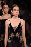 Models walk the runway finale for the Jonathan Simkhai collection during, New York Fashion Week Royalty Free Stock Image