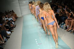 Models walk the runway finale during Luli Fama Spring Summer 2017 Runway Show Royalty Free Stock Image