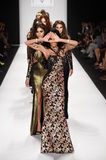Models walk the  runway finale for MTCostello Spring/Summer 2015 presentation Royalty Free Stock Image