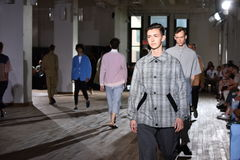 Models walk the runway finale during the N. Hoolywood Runway Stock Photos