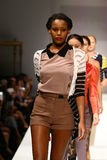 Models walk the runway finale at the Nikki Lund fashion show Stock Photo