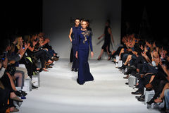 Models walk the runway finale at Ozgur Masur show Stock Photo